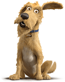 Caninsulin.com animated dog named Spike with quote about going to the veterinarian